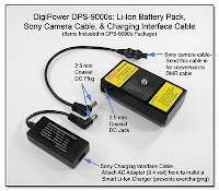 SC1060D: DigiPower DPS-9000s Items Included: Li-Ion Battery Pack, Sony Camera Cable, & Charging Interface Cable