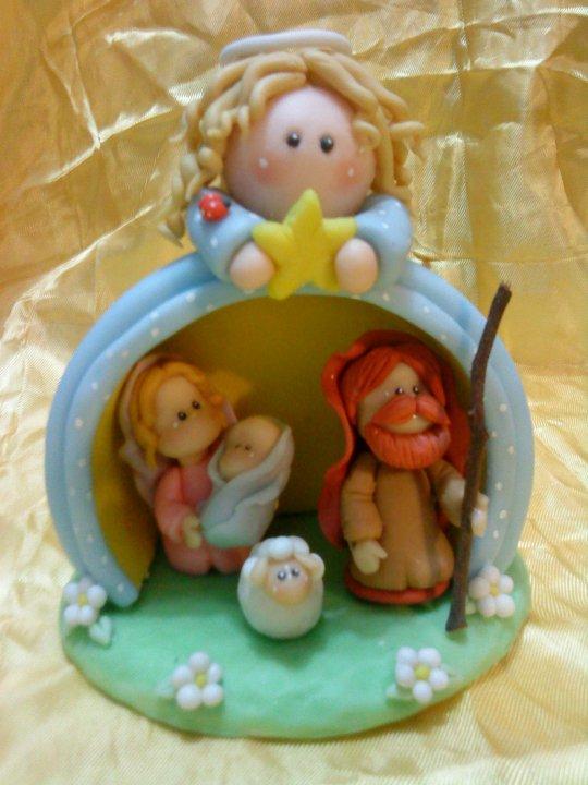 4dcffd08c3d ♥Todo en Porcelana Fría♥  Pesebre navideño