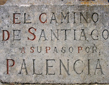 CAMINO TYPOGRAPHY 1: WAY-MARKER AT PALENCIA. PHOTO. C. GRAHAM WARD 2005