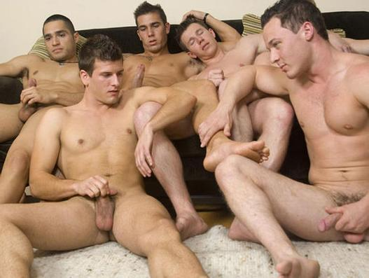 Gay jocks circle jerk