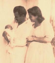 Bruno com os pais, Isaias Silva e Marieta Steinbach Silva.