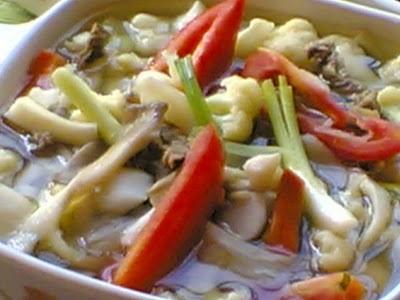 Sup Sayur (Rendah Sodium, dengan Air)