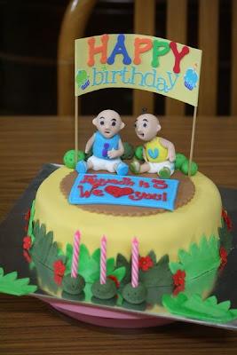 Rizq Cakes Upin Ipin Fondant Cake