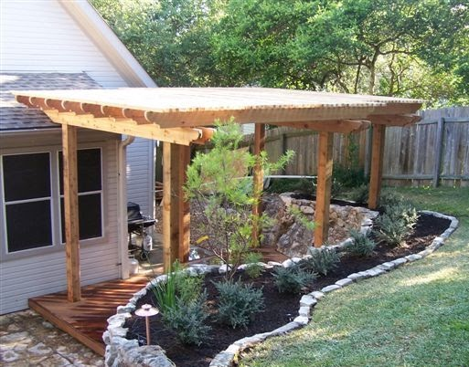 Small yard landscaping ideas grassless gardens | Permanent ... on Decking Designs For Small Gardens id=19114