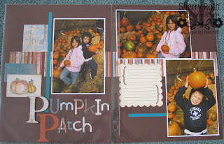 Pumpkin Patch Scrapbook Layout