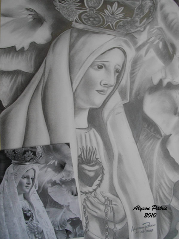 Alyson Designer Desenho A Grafite Nossa Senhora De Fatima