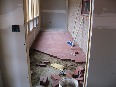 Building A Strawbale Home Brick Floors