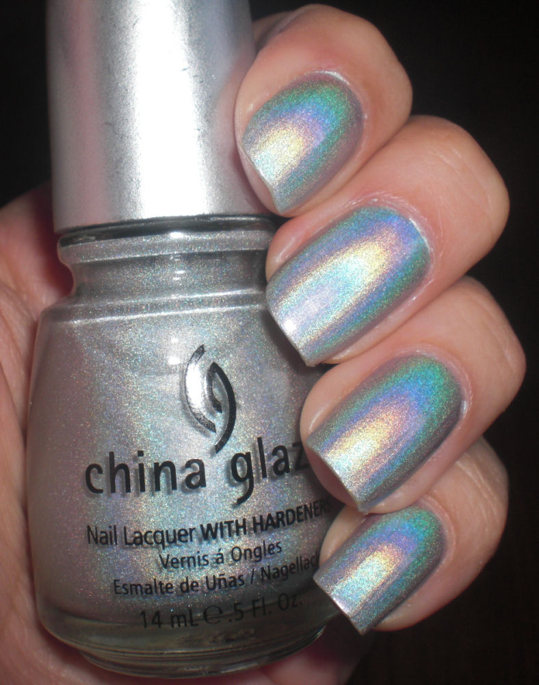 China Glaze Presenta Crakle Glaze: Concrete And Nail Polish: China Glaze OMG & Christmas Nails