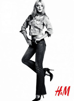 Jessica Stam on H&M Fall Winter photoshoot