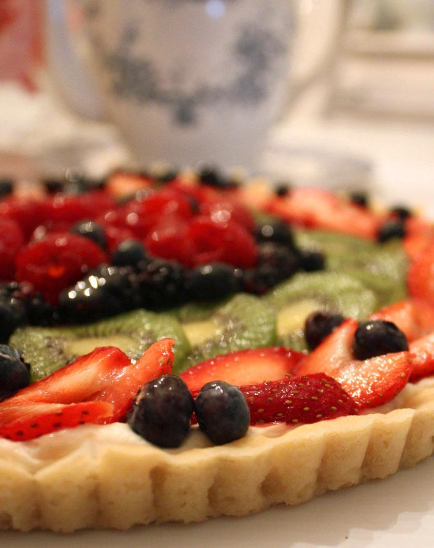 My Romantic Home: Fruit Tart & Happy Birthday Dad