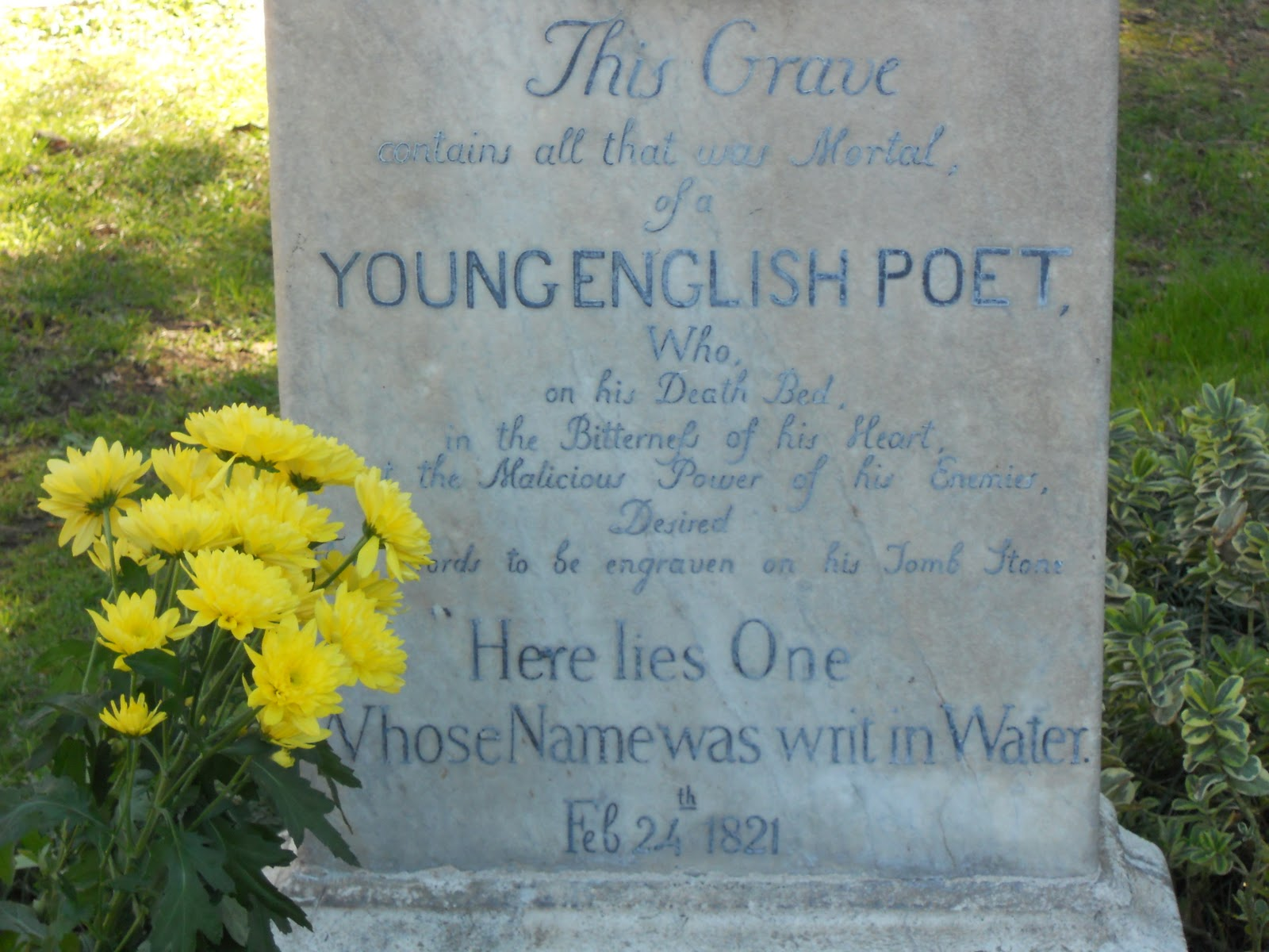 Leo S Learning Blog The English Poets Graveyard In Rome