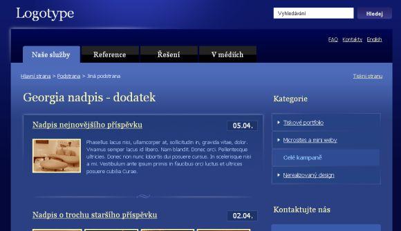 Free CSS Dark Blue Web2.0 Website Template