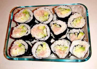 Japanese Tuna Salad Sushi Roll Homestyle