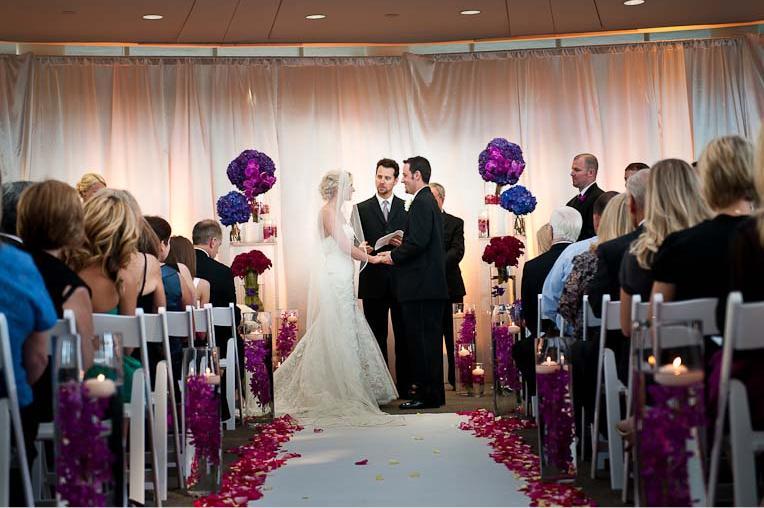 Ceremony And Reception In Same Room: B E L L A F L O R A: Bella Bride: Michele Ammann And Aaron