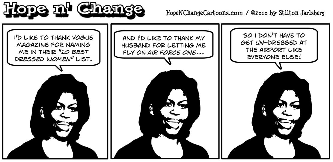 Michelle Obama named to Vogue's ten best dressed women list, hope and change, hope n' change, hopenchange, stilton jarlsberg