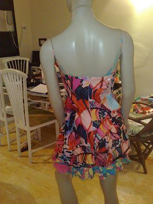 373daf5eb Cod 540- Vestido algodão onça rosa com alcinha Tamanho M ***Cod 541 Tamanho  G