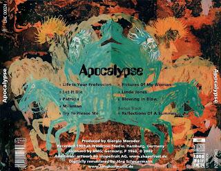 Resultado de imagen de Apocalypse 1969 band