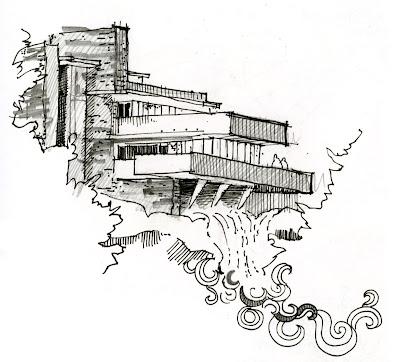 an open [sketch]book: monticello + fallingwater