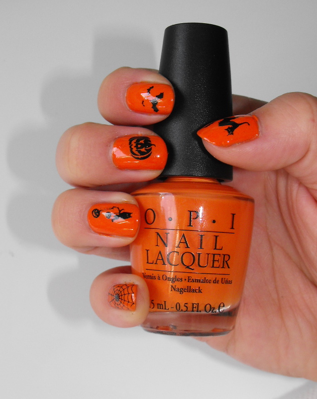makeroomforcupcake: Halloween Nails: Orange and Black Faux-nad