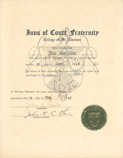 Inns of Court certificate