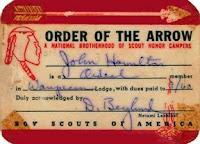 My Order of the Arrow ID card