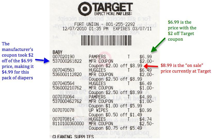 Target Receipt Coupon