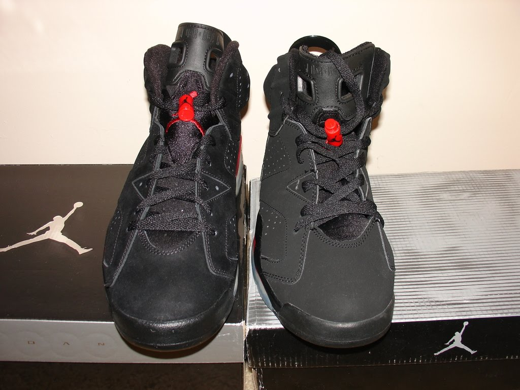 online store 0211f 13d22 ... Comparison of 2010 Retro Air Jordan VIs to Counterfeit - Side by side  ...