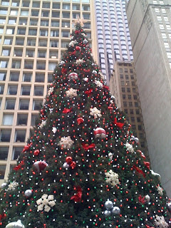 Christmas Tree Downtown Chicago.A Random Photo Big Christmas Tree Downtown Chicago
