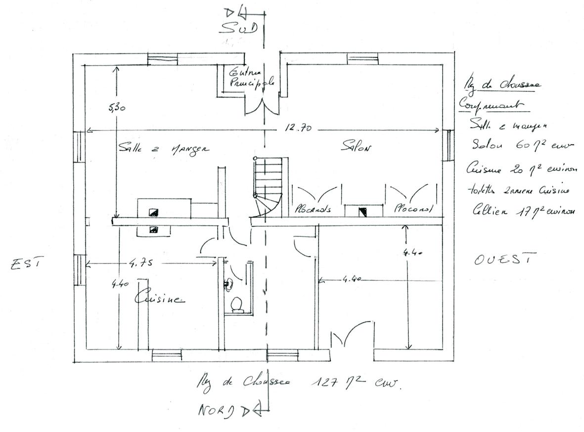 Maison de ma tre en normandie for Plan maison de maitre