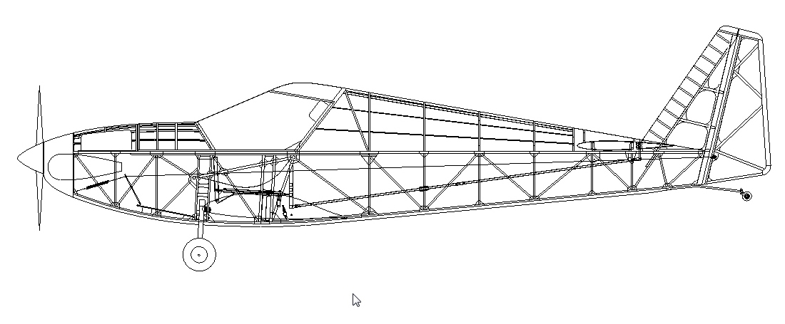 Airplane Frame Structure – images free download - Fokker D.VII Project