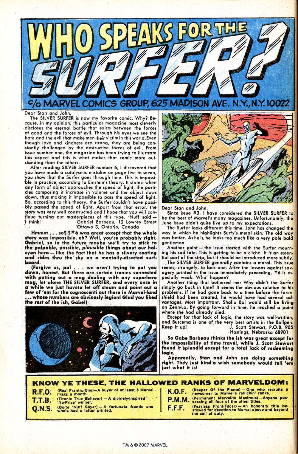 Read online Silver Surfer (1968) comic -  Issue #8 - 32