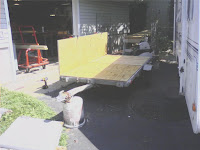 Trailer repair in progress