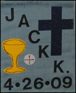 Completed Simple First Communion Banner