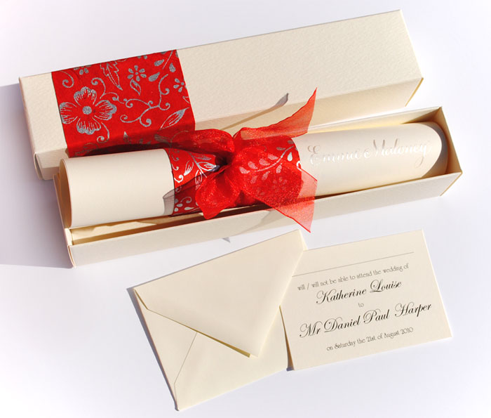 wedding scroll invitation the wedding calligrapher