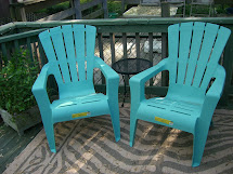 Turquoise Plastic Adirondack Chair Outdoor