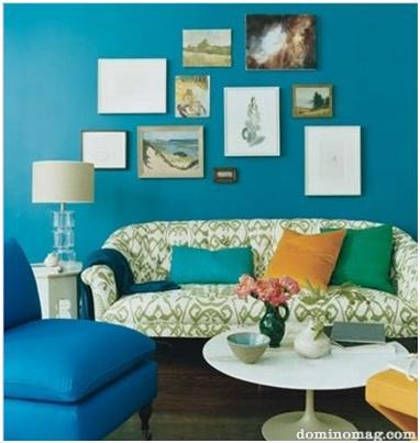 My mint green house the m project gallery walls for Houzz magazine