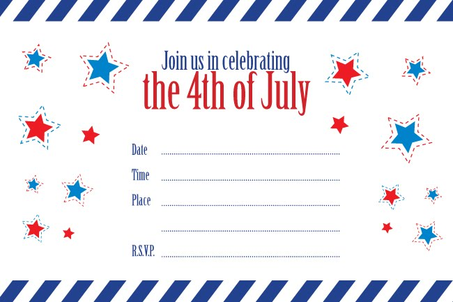 4th of july party invitation template - Bire1andwap - 4th of july template