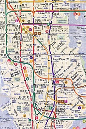 Alternative Nyc Subway Map.Alternative Nyc Subway Maps The Terrier And Lobster