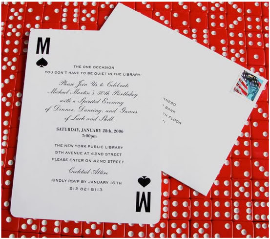 Carlton Cards Wedding Invitations: The Terrier And Lobster: Playing Card Suits