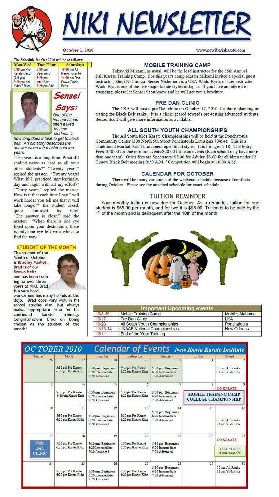 KARATE NEWSLETTER EBOOK