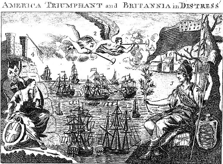 [1782+America+Triumphant+and+Britannia+in+Distress,++Frontispiece,+Weatherwise]