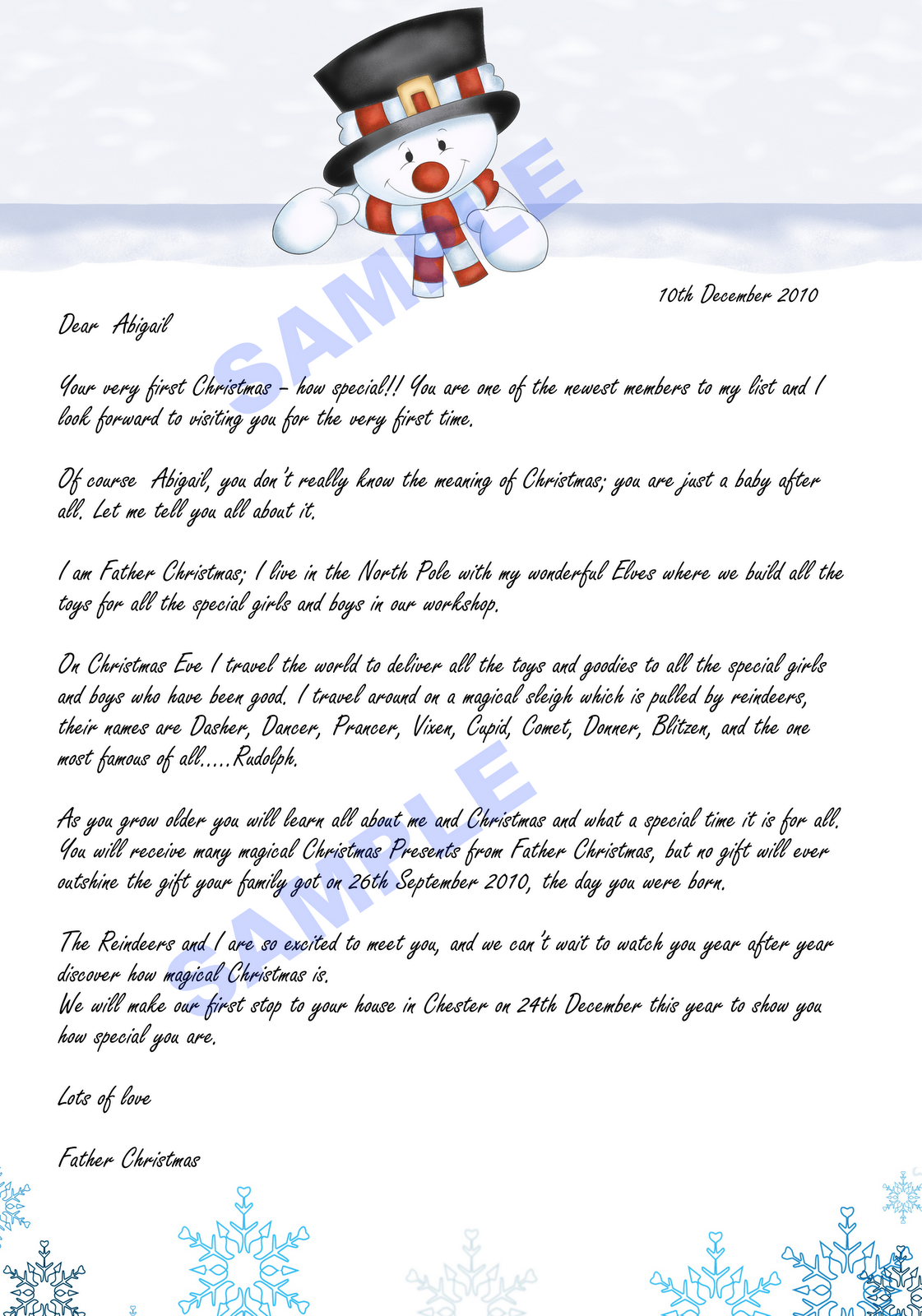 letters from father christmas robinson designs they arrived letter from 13909