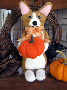 A Christmas Corgi                                       Original Art Doll
