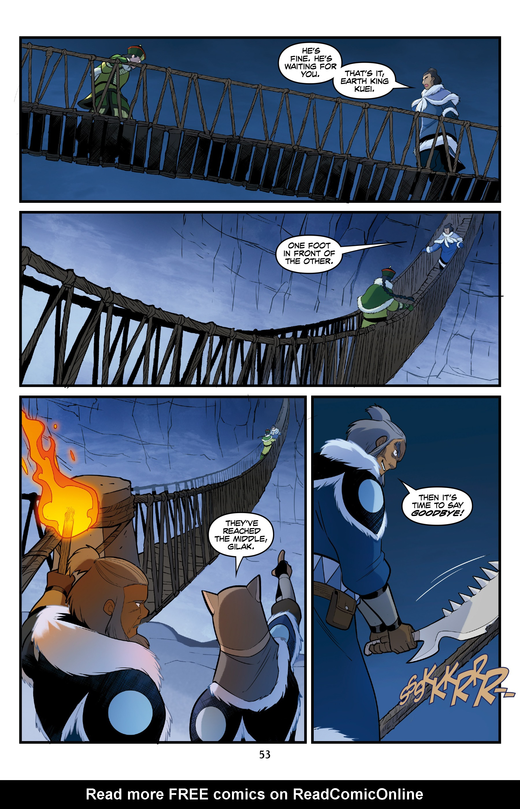 Read online Nickelodeon Avatar: The Last Airbender - North and South comic -  Issue #3 - 53