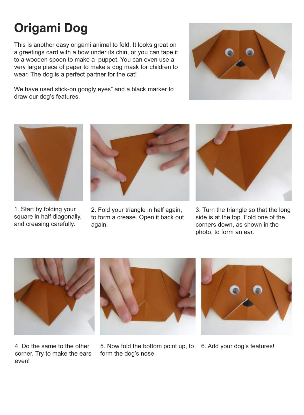 origami instructions for kids - DriverLayer Search Engine - photo#30