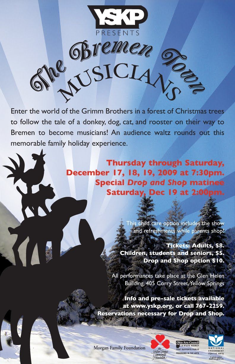A Yellow Springs Blog: YSKP Holiday Show - The Bremen Town Musicians