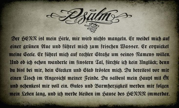Der 23 Psalm