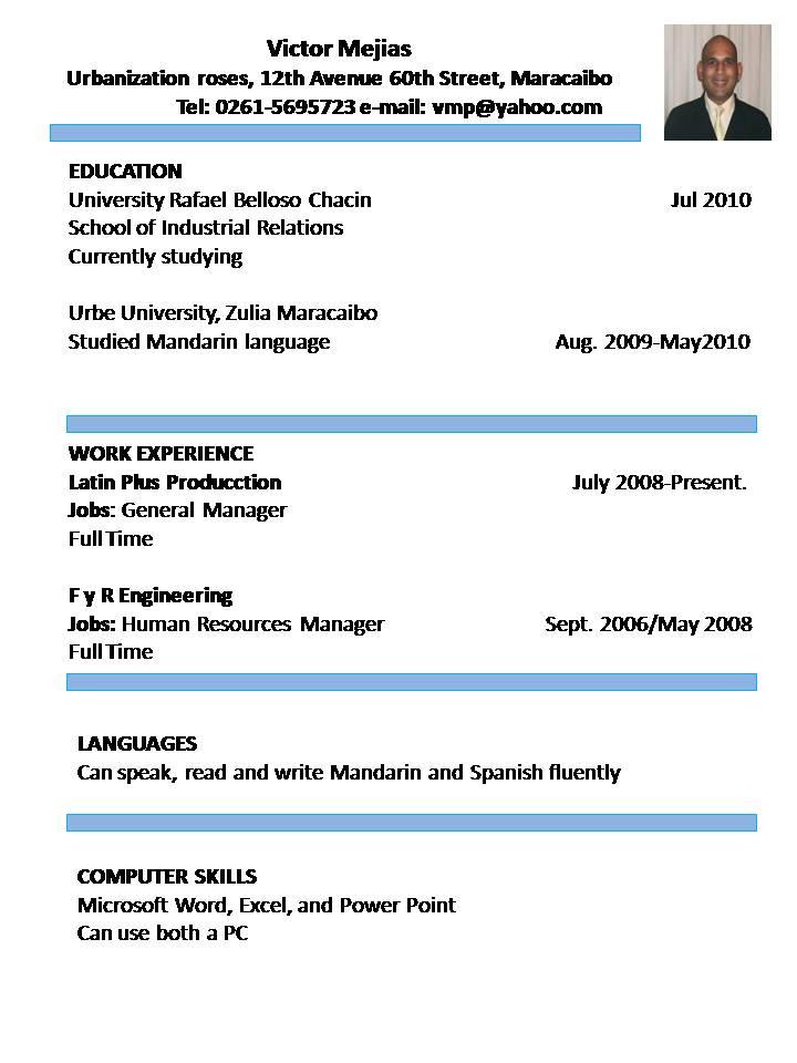 Curriculum Vitae B1 Ingles