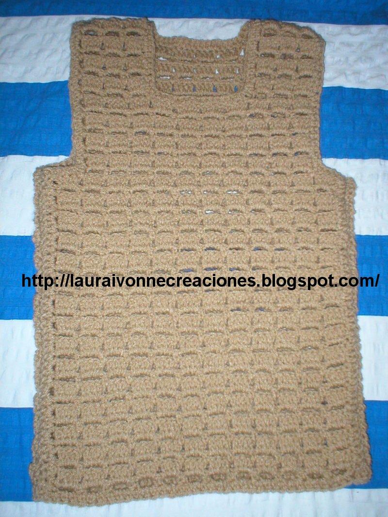 Laura Ivonne Creaciones Chaleco De Niña En Crochet