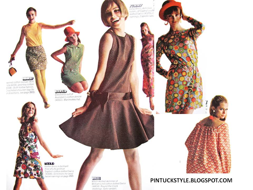 Pintucks 1960 39 S Mod Fashions To Wear Or Sew